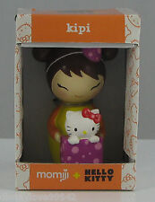 Hello Kitty MOMIJI Message Doll KIPI carrying birthday gift box with Hello Kitty
