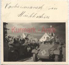R186 Foto WH Panzer Spähwagen Sudetenland Hlucín Hultschin Standarte Wagen TOP !