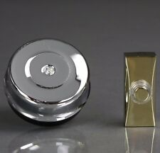 Siemens Wired Traditional Chrome Door Bell W/ Brass Effect Bell Push DCW8/DCW15