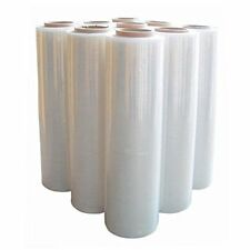2 ROLLS  CLEAR STRONG PALLET SHRINK STRETCH WRAP CAST PACKING PARCEL CLING FILM