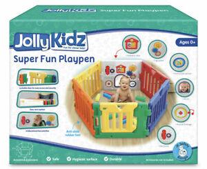 6 Panels Jolly Kidz Portable Folding Magic Fun Playpen Safety Gate new