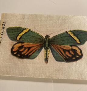 Antique Tokio Cigarettes Silk Tobacco Card Rare Butterfly Series - Cigarette