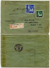 WW2 EXECUTIVE ORDER HANDSTAMP REGISTERED PHILATELIC MAIL NETHERLANDS INDIES 1940