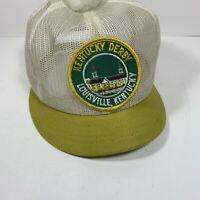 RARE! Vintage Kentucky Derby Patch Horse Race Trucker USA Mesh SnapBack Hat Cap