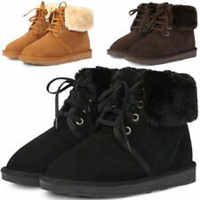 Leather Snow, Winter Lace Up Boots for Women