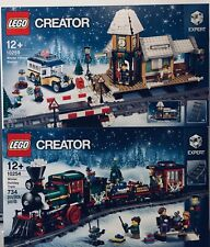 BNIB LEGO 10259 Creator Winter Village Station & 10254 Holiday Train Combo