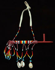 Native American Handmade Beaded Ceremonial Pipe Hanging