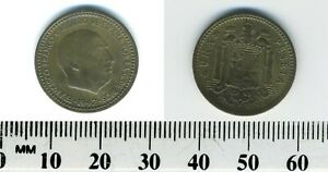 Spain 1947 (1948) - 1 Peseta Aluminum-Bronze Coin - Francisco Franco, caudillo