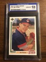 1991 UD Final Edition Jim Thome Rookie #17F Graded ISA 10 GEM MINT Indians HOF