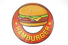 Blechschild Hamburger RETRO KÜCHE Küchenschild Imbiß