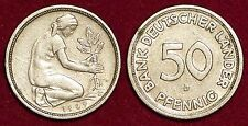 50 pfennig 1949D Bank Deutscher Lander GERMANY Deutschland Allemagne