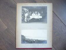 4 GRANDES PHOTOS 1912 D' omonville la petite CHERBOURG MANCHE