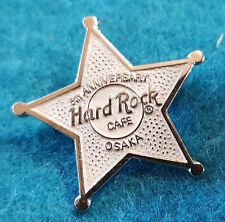 OSAKA 5th ANNIVERSARY 5 POINTED SILVER STAR Hard Rock Cafe MINI PIN