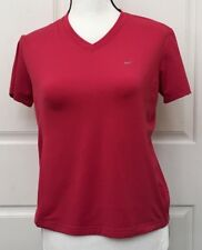 Womens Nike Fit Dry Shirt Top Pink Short Sleeve Athletic Small 4 5 6 Stretch