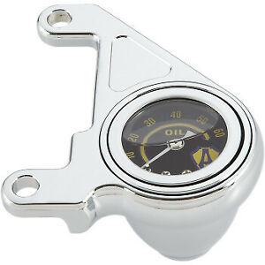 "Arlen Ness Harley-Davidson Twin Cam 1-3/4"" Oil Pressure Gauge Kit Chrome 15-658"