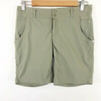 """Horny Toad Stretch Hiking Shorts 8"""" Inseam Womens Size 4 Green Outdoor Active"""