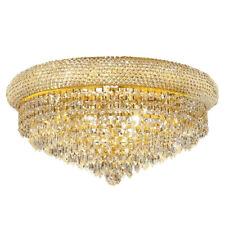 Gold Crystal Ceiling Light Lustre Chrome Ceiling Light Modern Flush Mounted