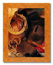Western Saddle Rope Hat Cowboy Memorabilia Photo Wall Picture 8x10 Art Print