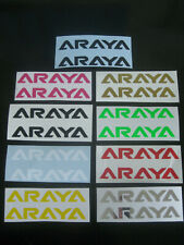 2 ARAYA BMX Stickers Cycling Printed Decals Frame Forks Wheel Helmet bike Haro