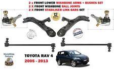 Per TOYOTA RAV 4 2006 - > 2x Bracci Braccio Oscillante + Giunto Sferico + 2x Stabilizzatore barre di collegamento