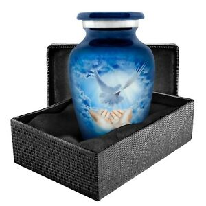 Peaceful Dove Small Keepsake Urn for Human Ashes - Qnty 1- With Case