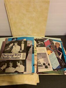 Duran Duran 80's Vintage Scrapbook Lot 4 Books