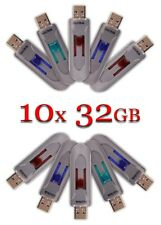 LOT 10x SanDisk 32GB Cruzer GLIDE USB Flash Drive 10 x 32 GB SDCZ60-032G Grey