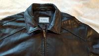 New Men's Hathaway Cool Flight Bomber Premium Soft Glove Leather Jacket XXL 2XL