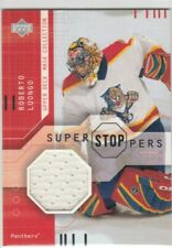 2001-02 UD Mask Collection Goalie Jersey  Roberto Luongo SS