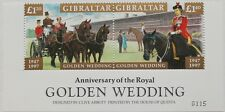 Golden wedding of Queen Elizabeth & Prince Philip Gibraltar stamp sheet, '97 MNH