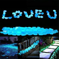100PCS Luminous Stones For Pathway/ Garden/ Aquarium Decoration Glow Pebbles
