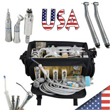 Portable Dental Turbine Unit Compressor Suction System Bag Syringe Handpiece Kit