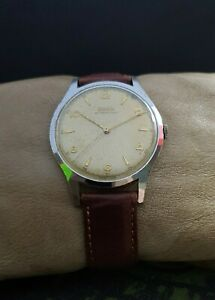 DOXA WWII 40's MILITARY cal.1147 VINTAGE 38mm RARE SWISS WATCH.