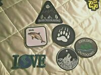 Countryside Patches, Save Whales, Tracks, Badges, Camping
