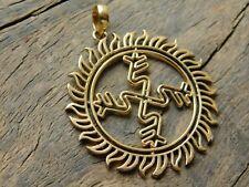 of Sun Sacred Geometry Swastik Pendant Healing Spirit Pendant Solar Flair Energy