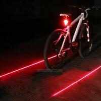 5 LED 2 Laser 7 Flash Mode Bicycle Cycle Bike Red Beam Rear Light Back Tail Lamp