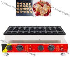 Nonstick Electric Mini Heart Poffertjes Baker Dutch Pancake Maker Machine Iron