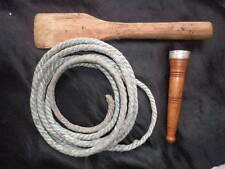 Rope,Wooden Bat & Post for Kelantan Gasing,Spinning Top,Topspin, No Top