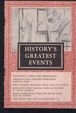 History's Greatest Events Booklet Leonardo da Vinci Slavery in Jamestown Va