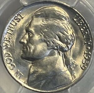 1939-P Jefferson Nickel Reverse of 1940 PCGS MS66 5C Lustrous Gem!