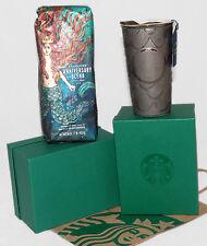 STARBUCKS - 2016 ANNIVERSARY - Mermaid Scales TRAVEL TUMBLER & Whole Bean COFFEE