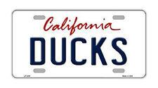 "Metal Vanity License Plate Tag Cover - Anaheim Ducks - Hockey Team - 12"" x 6"""