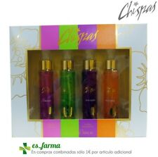 DANA PERFUMES CHISPAS COLONIA SET EAU DE COLOGNE 4 x 50ML ORIGINAL VIVA