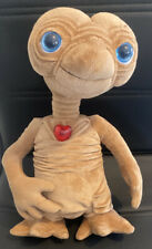 """Extra Terrestrial  Plush Soft Toy ET Stuffed Doll 14"""" Flashing Red Heart Rare"""
