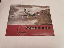 Potez 840 Vintage Aircraft Airliner Brochure