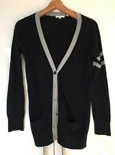 Vince cashmere blend sweater pull cardigan bleu marine gris s small