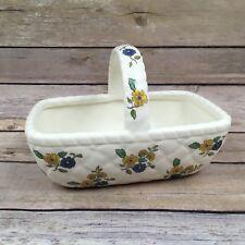 Vintage Elizabeth Arden Ceramic Basket Floral Decor Trinkets - Japan