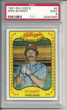 1981 Kellogg's Mike Schmidt #5 PSA 9 Mint Baseball Card.