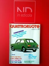 QUATTRORUOTE 254 FEBBRAIO 1977 - FORD FIESTA 950 L LANCIA 1300 COUPE'  VOLVO 245