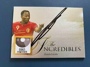2016 Futera Unique World Football on card auto Romelu Lukaku 19/25 signature